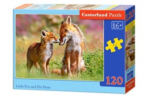PUZZLE LITTLE FOX AND HIS MUM 120 ELEMENTÓW CASTORLAND