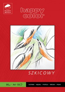 BLOK SZKICOWY A4 HAPPY COLOR
