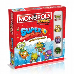 GRA MONOPOLY SUPER ZINGS JUNIOR HASBRO